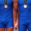 © JIŘÍ KOLIŠ, www.kolis.cz: vítězný italský dvojskif Tizzano, Abbagnale – LOH Atlanta 1996 / Tizzano and Abbagnale – the winning Italian doublescull team – Summer Olympic Games Atlanta 1996