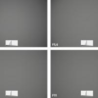Nikkor Z 24–70 mm f/4 S –vinětace –ohnisko 50 mm