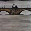 Praha pod vodou / Prague underwater © JIŘÍ VŠETEČKA: Pražské mosty, kulminace Vltavy, 13 .8. 2002 ve 20 hod. / Bridges of Prague, Vltava River culmination, August 13th 2002 at 8 p.m.