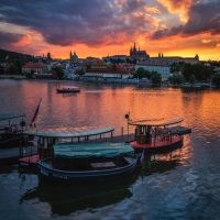 Tajemná Praha / Mysterious Prague | © Richard Horák: Červánky na Vltavě / Crimson on the Vltava River