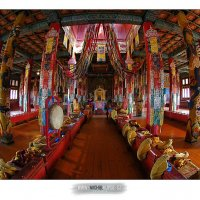 Budhistický chrám v klášteře Amarbajasgalant, Mongolsko