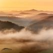 Hořící Růžák (Českosaské Švýcarsko) | Foto Václav Hýža | Nikon D80. Panorama z 6 snímků, 3× EBKT