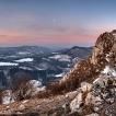 Kříž (Vrchol Vápeč ve Strážovských vrších) | Foto Václav Hýža | Panorama složené z 30 snímků, ve dvou řadách, 3× EBKT