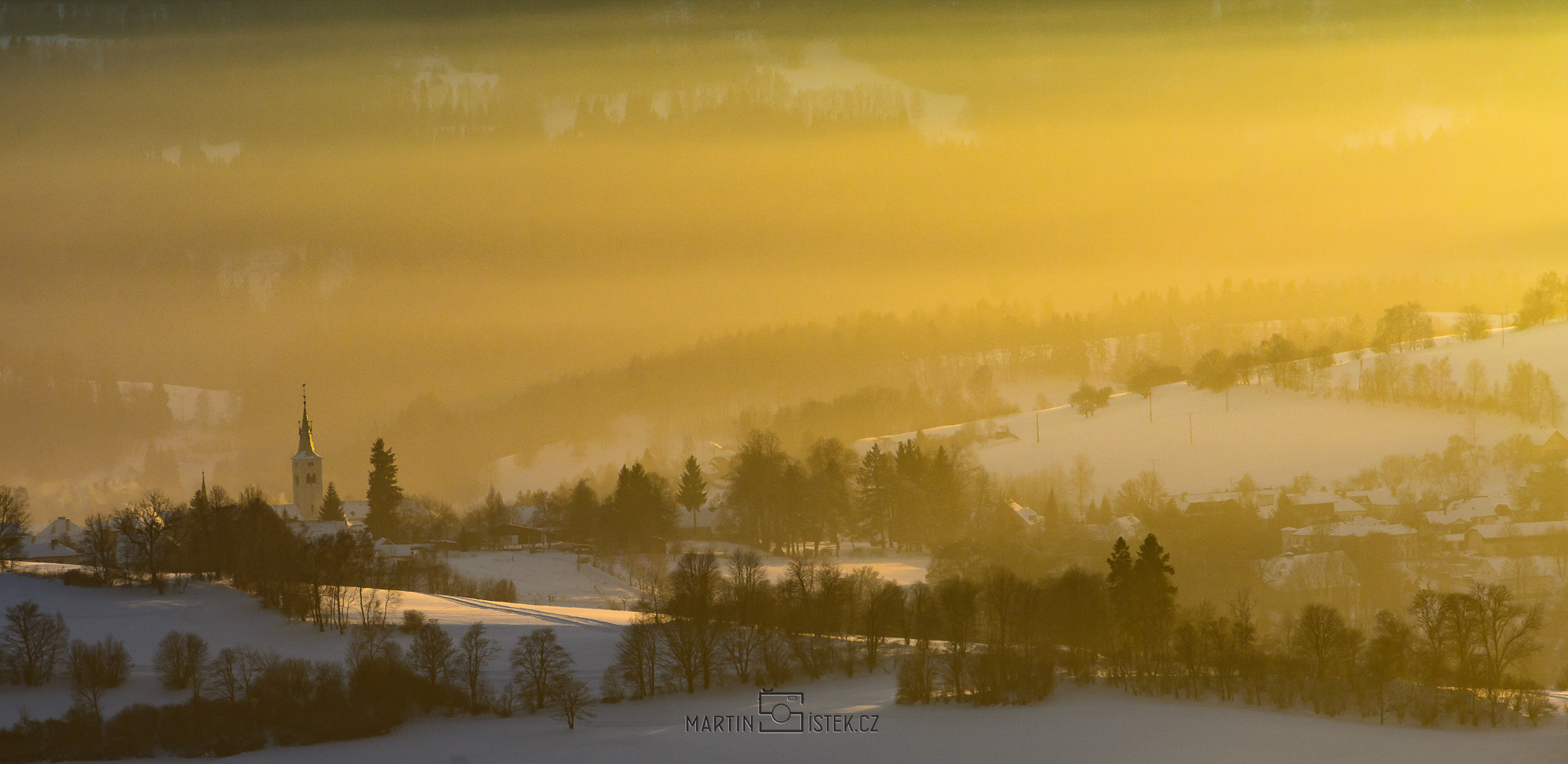 Západ slunce nad Kašperky