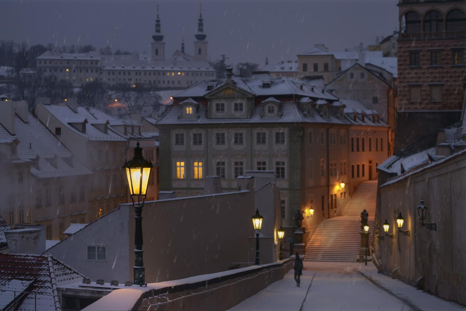 Tajemná Praha / Mysterious Prague | © Richard Horák: Zasněžená Nerudovka / Snowfall in Neruda street
