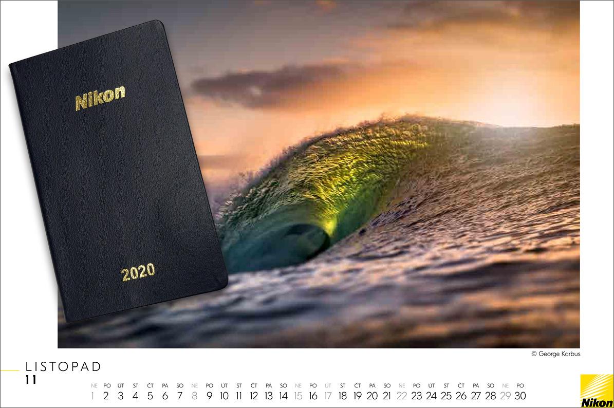 Diář a kalendář Nikon 2020
