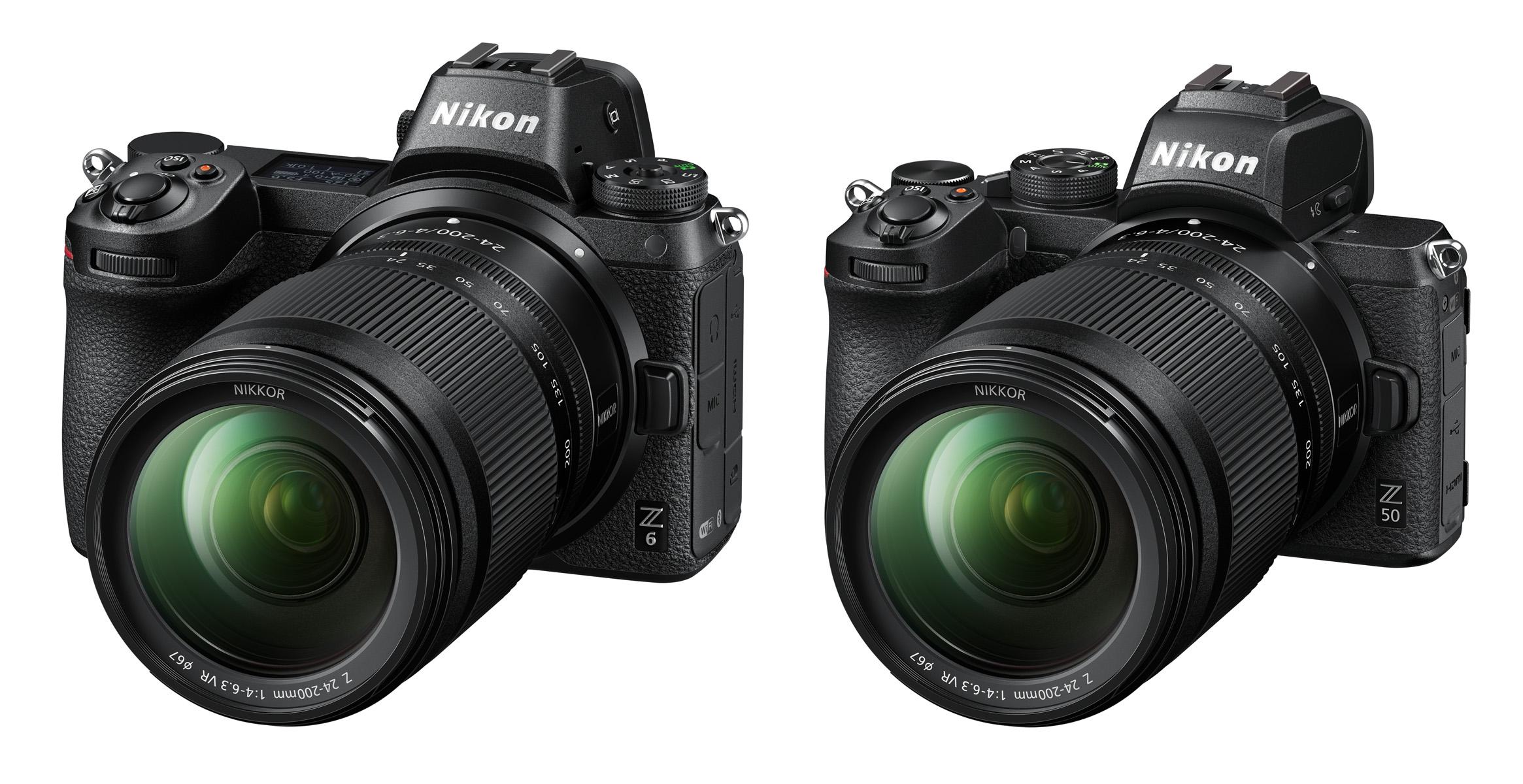 Objektiv Nikkor Z 24–200 mm f/4–6,3 VR na Nikonu Z 6 a Nikonu Z 50