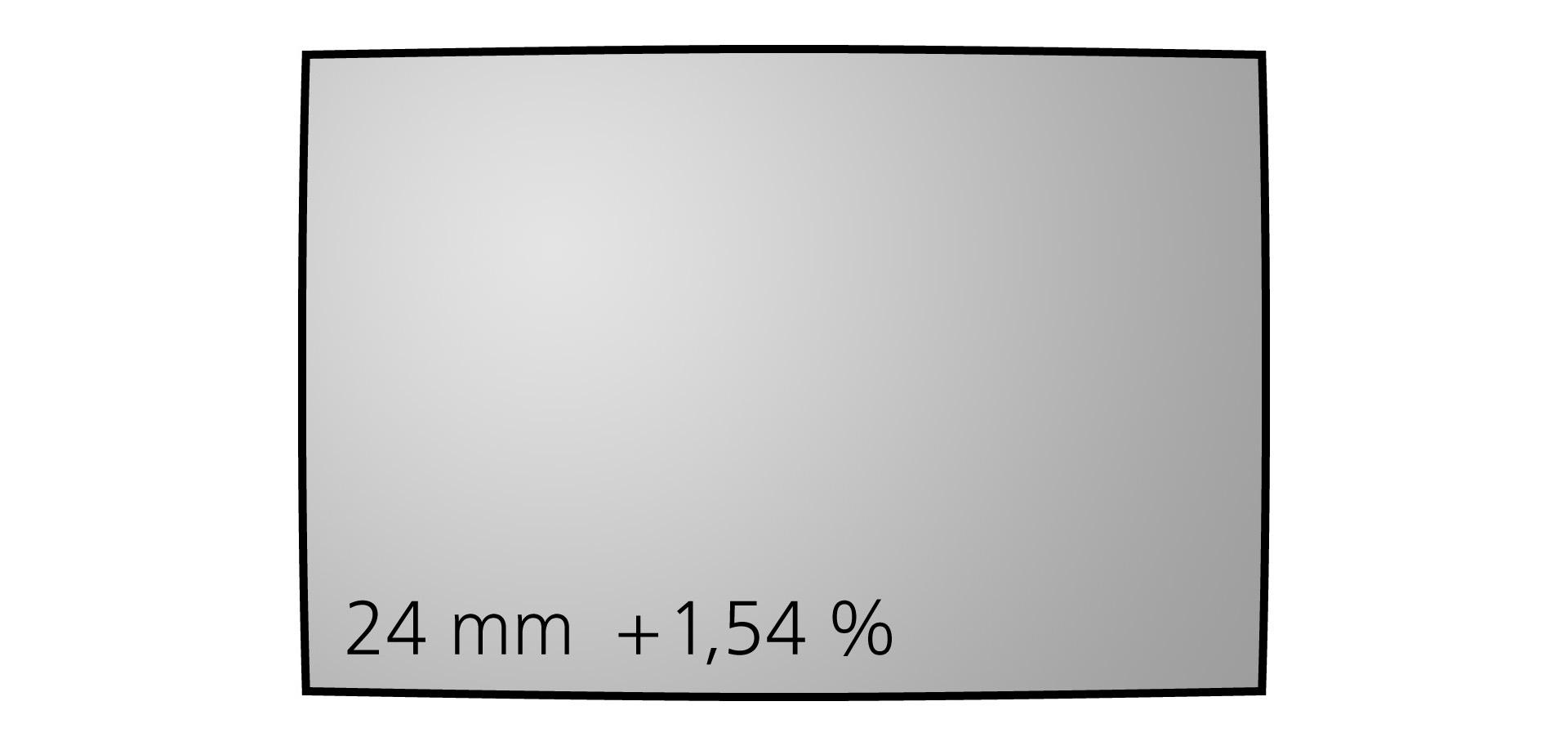 Geometrické zkreslení objektivu Nikkor Z 24 mm f/1,8 S