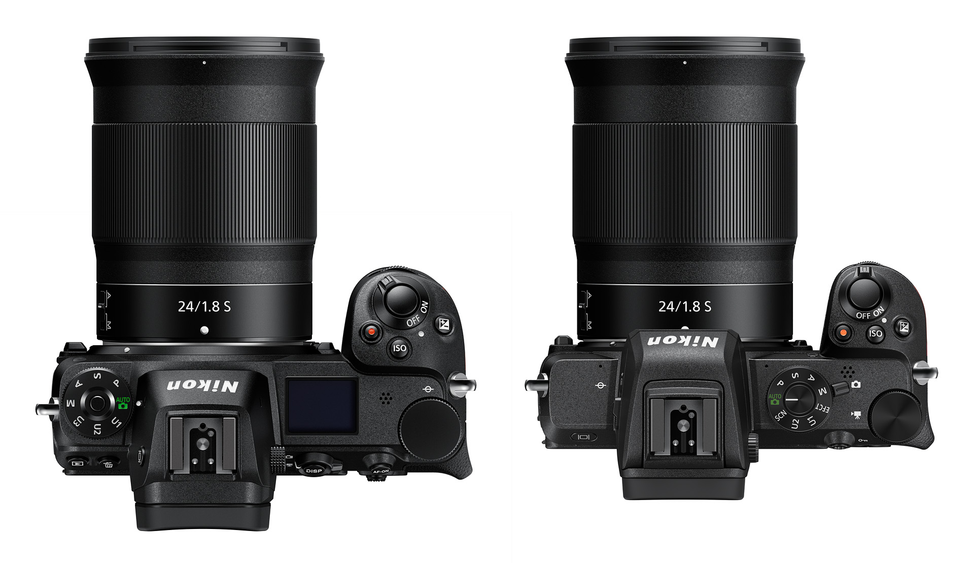 Porovnání Nikkoru Z 24 mm f/1,8 S na fulframovém Zetku a na Nikou Z 50