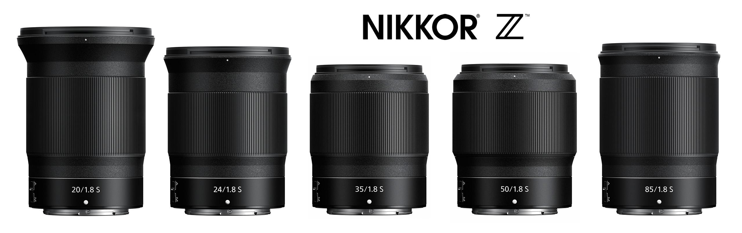 Řada monofokálních objektivů Nikkor Z S-line se světelností f/1,8 | březen 2020