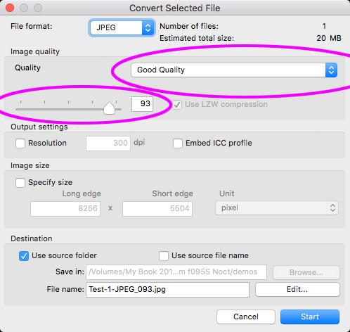 Minitest: Optimální komprese JPEG v Capture NX-D