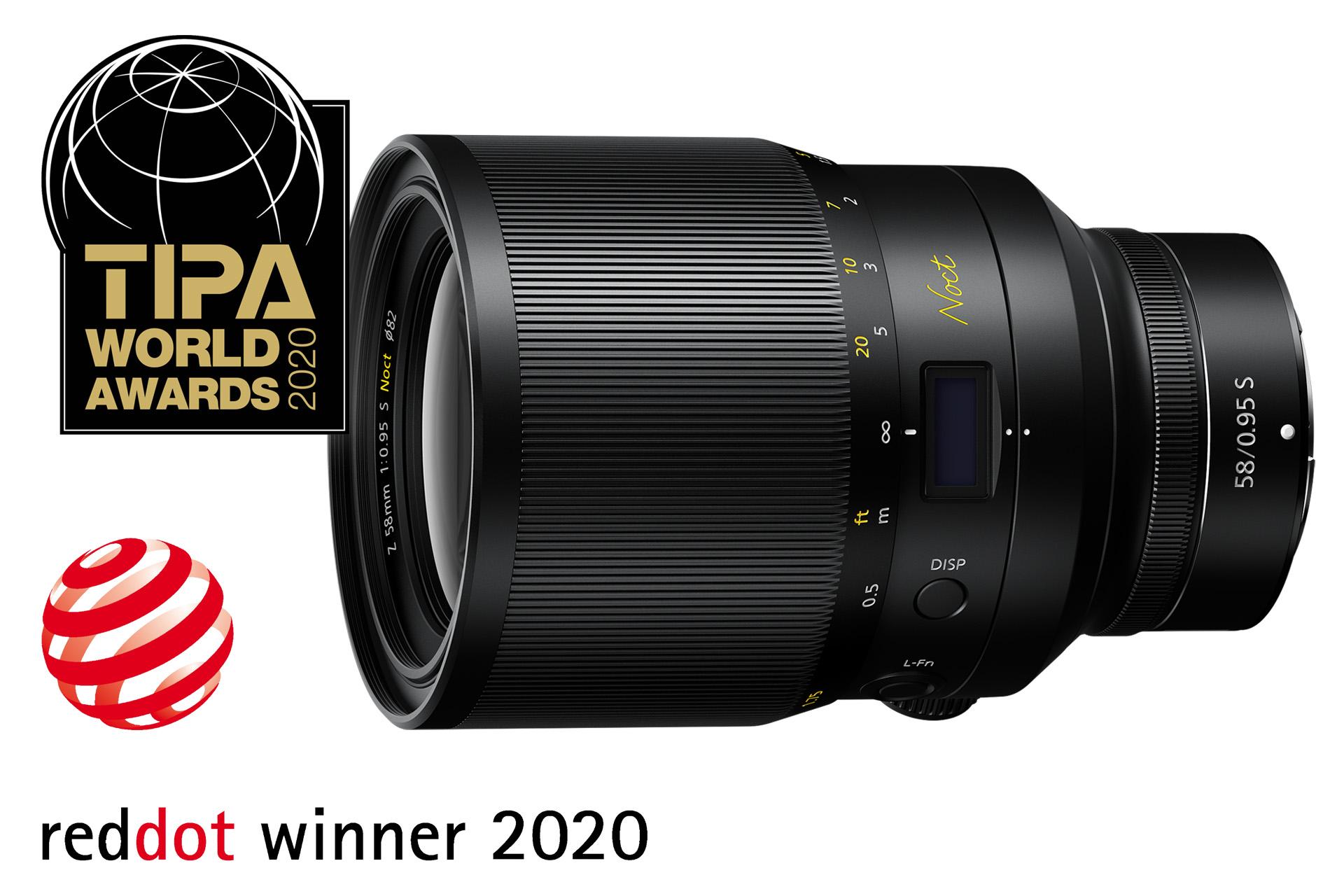Nikkor Z 58 mm f/0,95 mm S Noct |TIPA 2020 – Nejlepší základní monofokální objektiv pro mirrorless plus Red Dot Product Design 2020