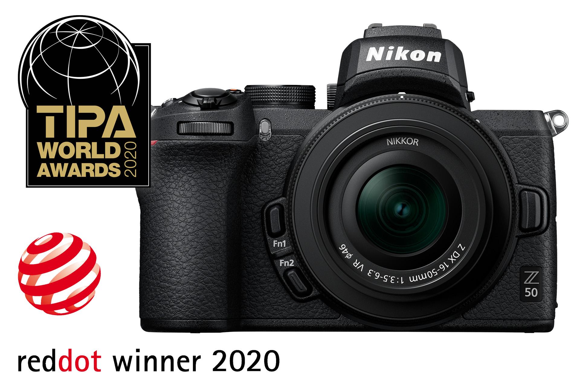 Nikon Z 50 |TIPA 2020 – Nejlepší pokročilý APS-C fotoaparát plus Red Dot Product Design 2020