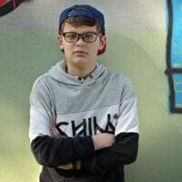 """""""Pubertální mladík nad věcí"""" –foto s Difflectorem (odrazná strana)"""