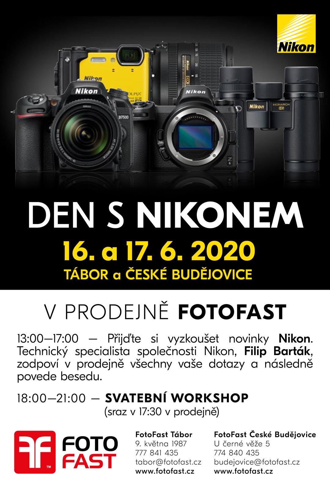 Jihočeské Dny s Nikonem… a se Svatebními workshopy navíc