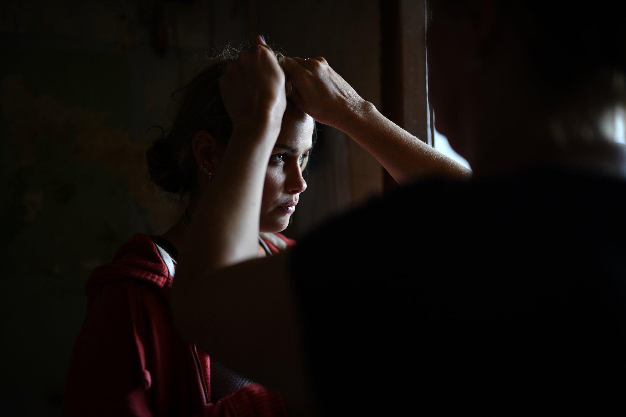 Z natáčení filmu Bourák – Veronika Marková | Foto Bára Lockefeer