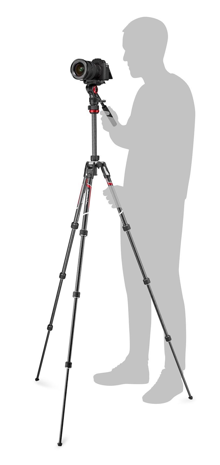 Maximální výška Manfrotto Befree Live činí 150 cm | Zdroj foto Manfrotto