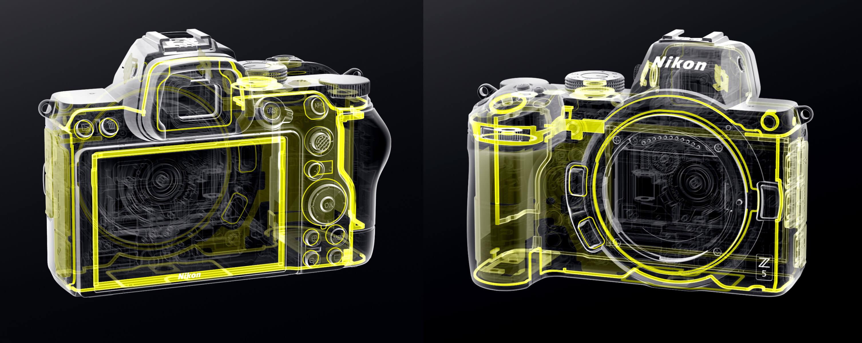 Také nový Nikon Z 5 je pečlivě utěsněný proti stékající vodě a prachu