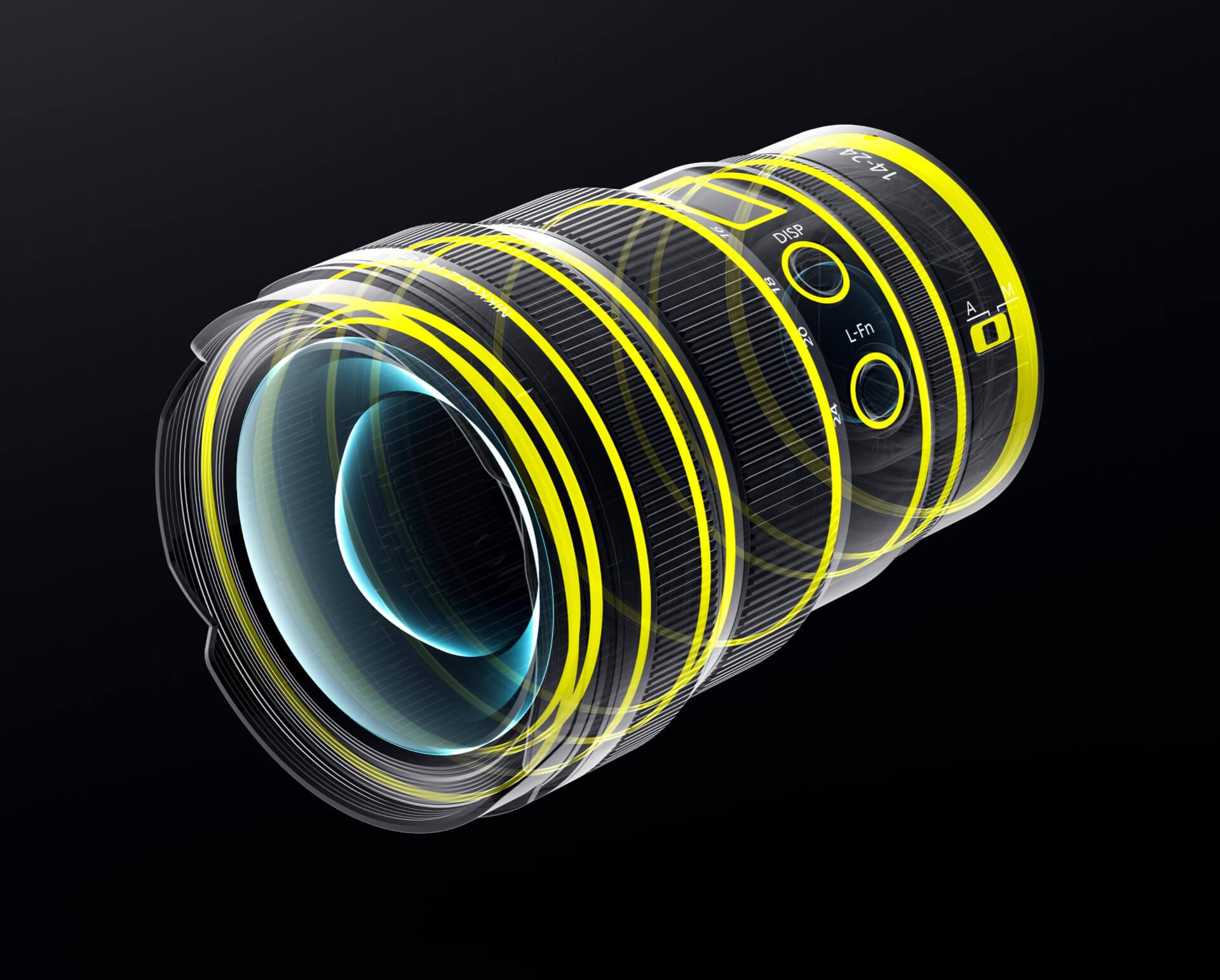Utěsnění Nikkoru Z 14–24 mm f/2,8 S