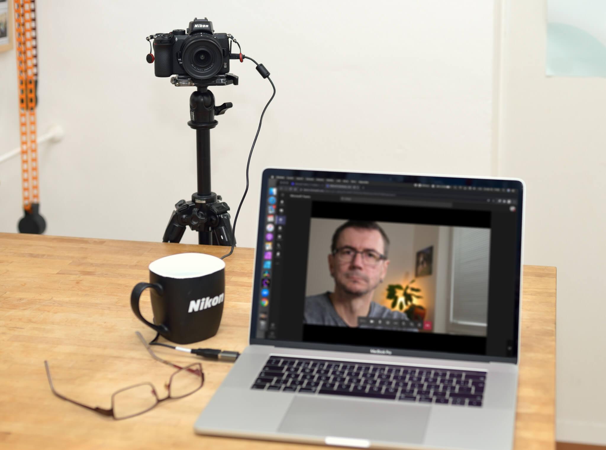 Nikon Z 50 jako webkamera