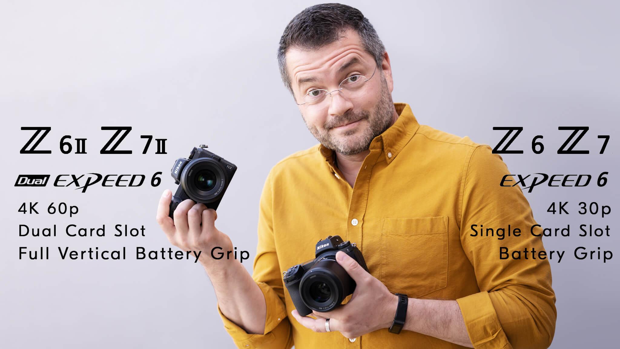 Nikon Z 6 II od Z 6 nerozoznáte na prvý ani druhý pohľad. Sú totožné a rozdiel zbadáte až keď sa prizriete produktovému označeniu