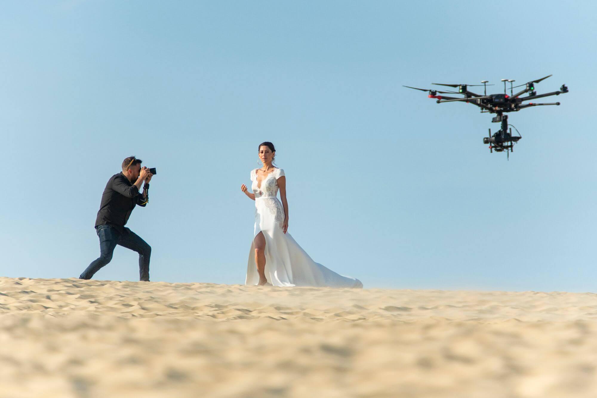 François Lamoureux při natáčení svatebního videa | Foto Jarno Schurgers