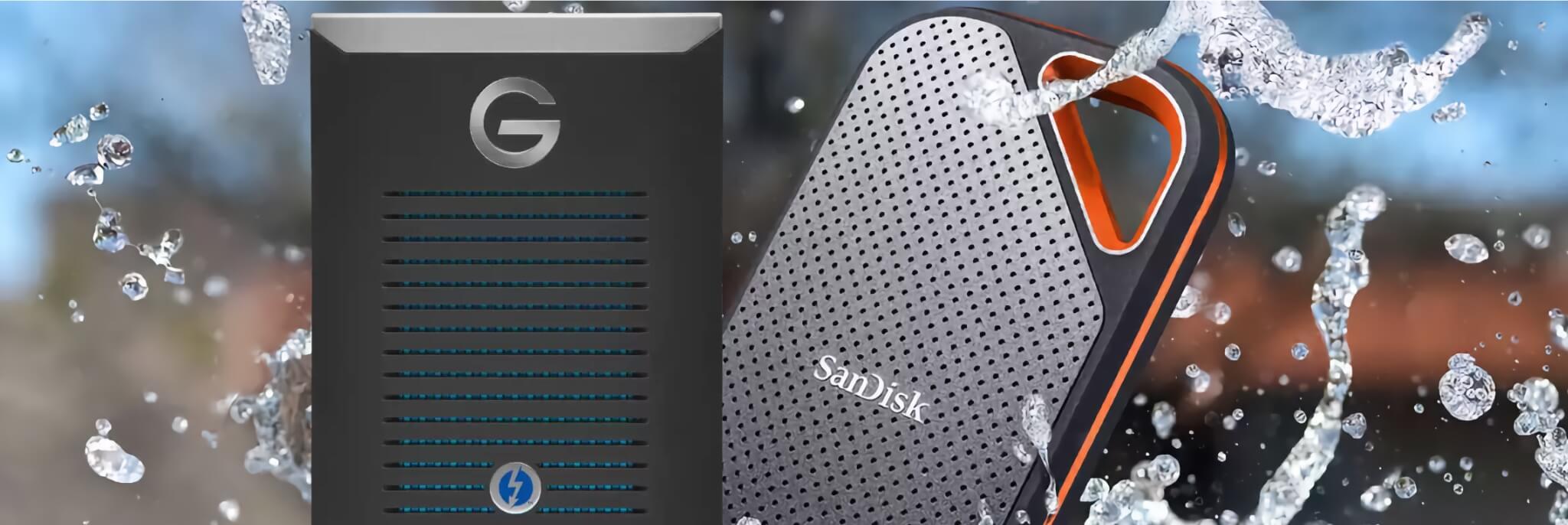 A ještě rychleji… Externí SSD disky SanDisk a G-drive