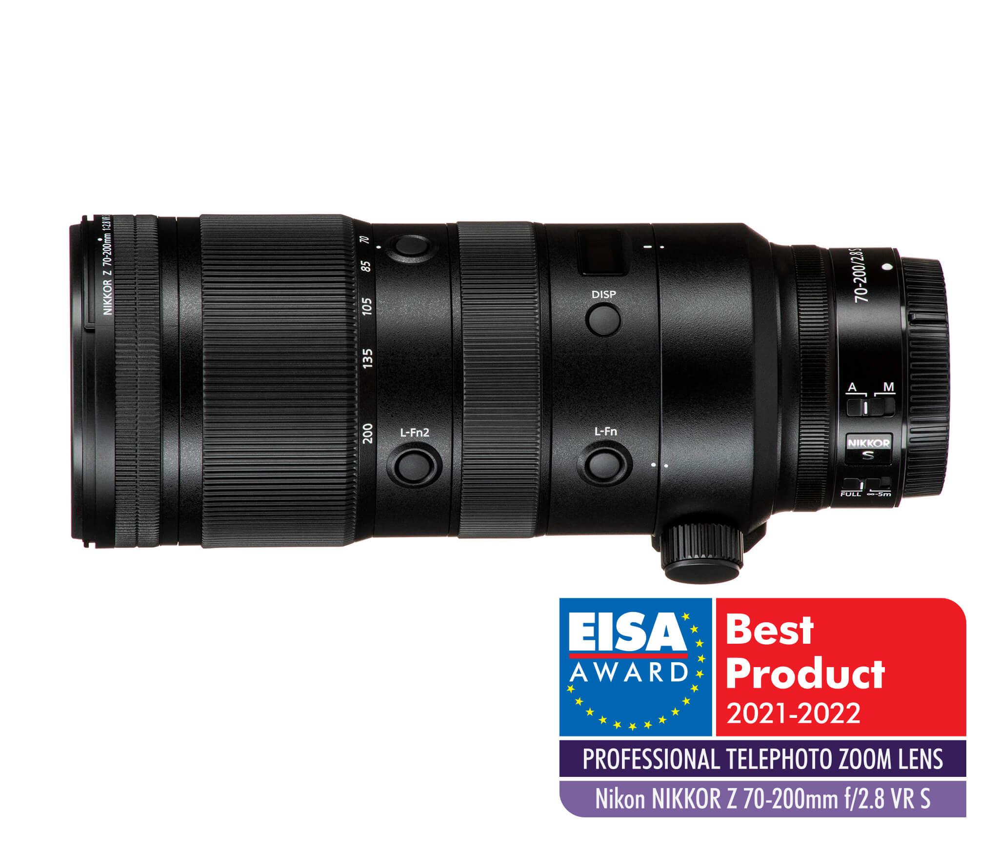 Nikkor Z 70–200 mm f/2,8 S VR   EISA 2021–2022 – Professional telephoto zoom lens