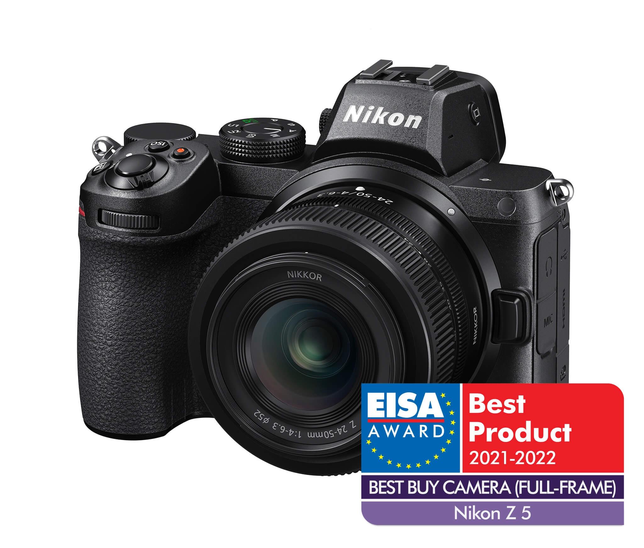 Nikon Z 5   EISA 2021–2022 –Best buy camera (fullframe)
