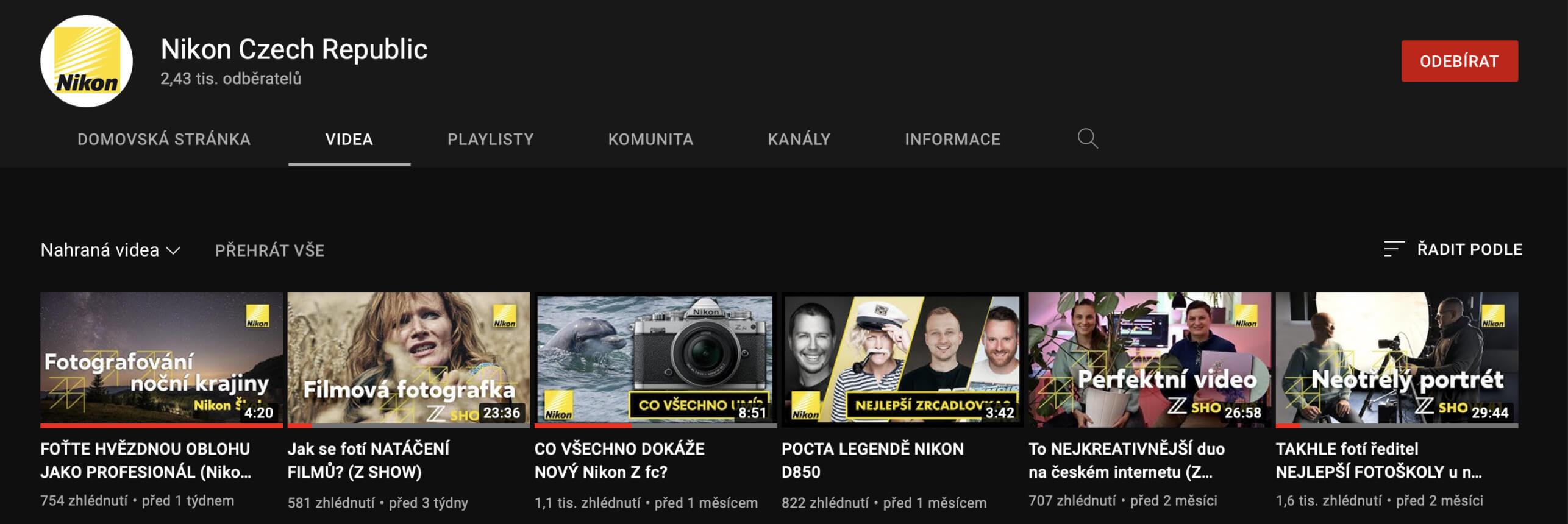 S foťákem na video, s Nikonem na YouTube