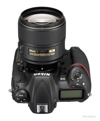 Objektiv AF-S Nikkor 105 mm F1,4E ED na Nikonu D5