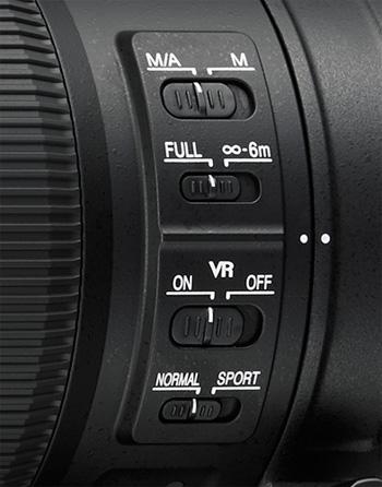 AF-S Nikkor 200–500 mm F5,6E ED VR