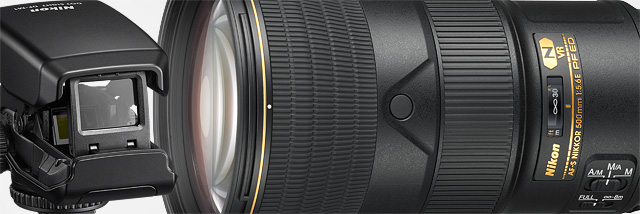 """Vidět dál. Nový """"kapesní"""" 500mm Nikkor (a kolimátor navíc)"""