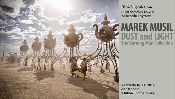 Beseda s Markem Musilem o focení festivalu Burning man již za týden