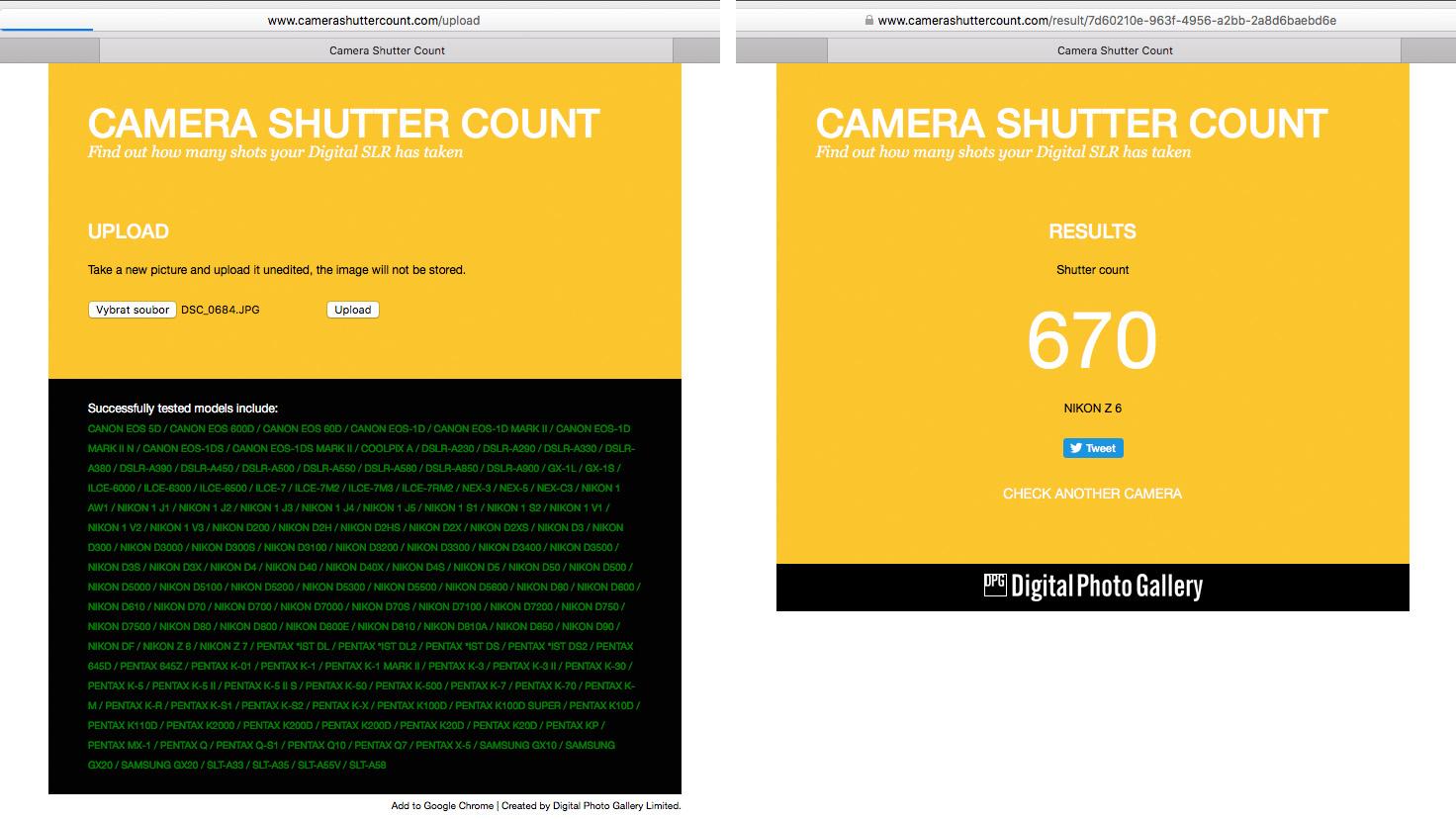 Camera Shutter Count