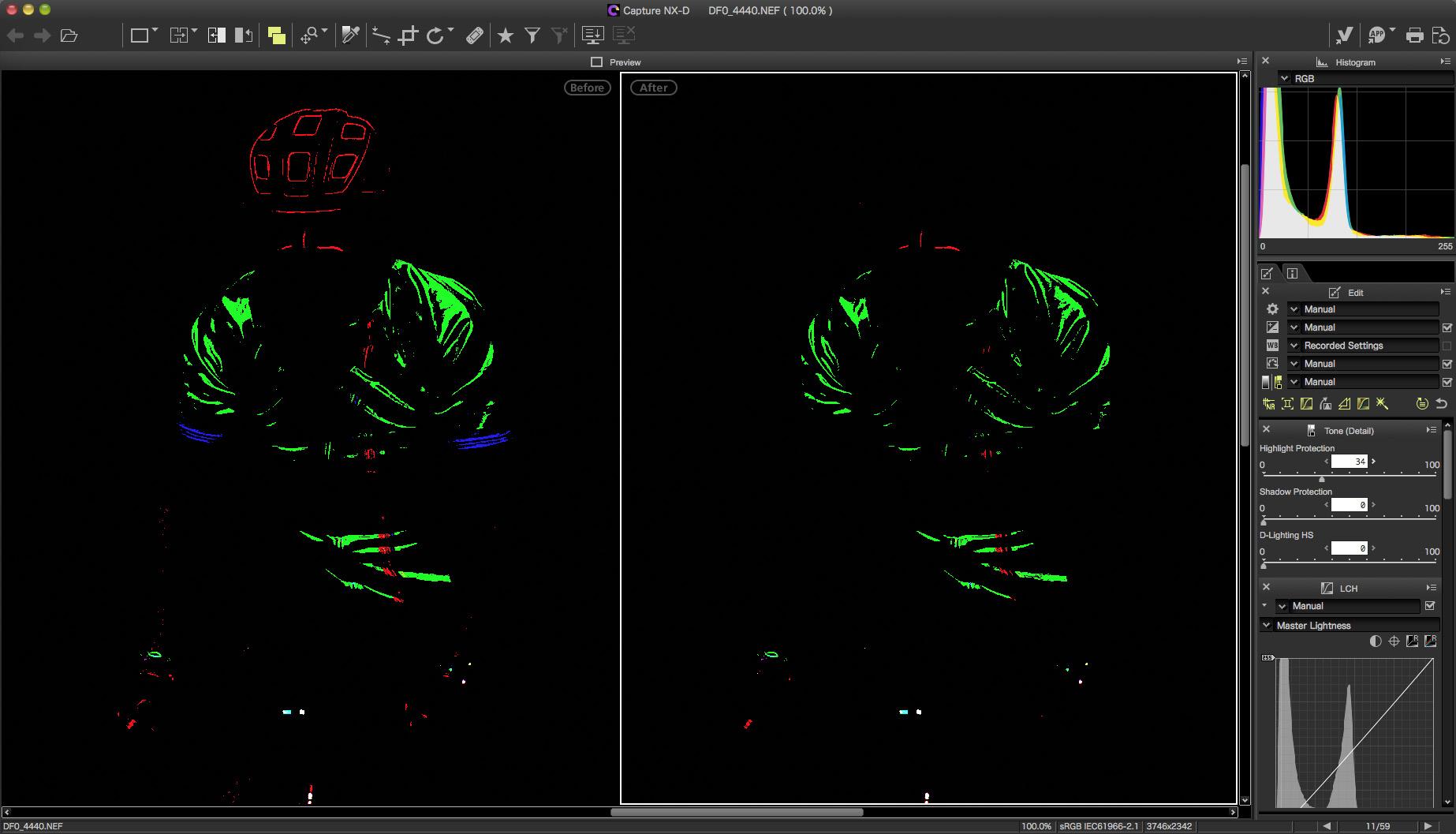 V Capture NX-D (téměř) bez přepalů
