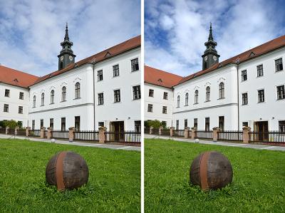 Fotografie před- a po úpravě