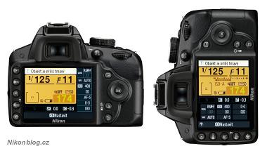 Orientační senzor Nikonu D3200 se postará o automatické otočení stavového displeje při fotografování na šířku nebo na výšku