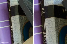 Nikon D3200 (vlevo) vs D800 (vpravo) – ISO 800