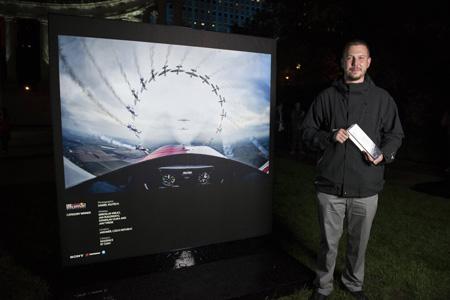 Dan Vojtěch u svého vítězného snímku | Foto Red Bull