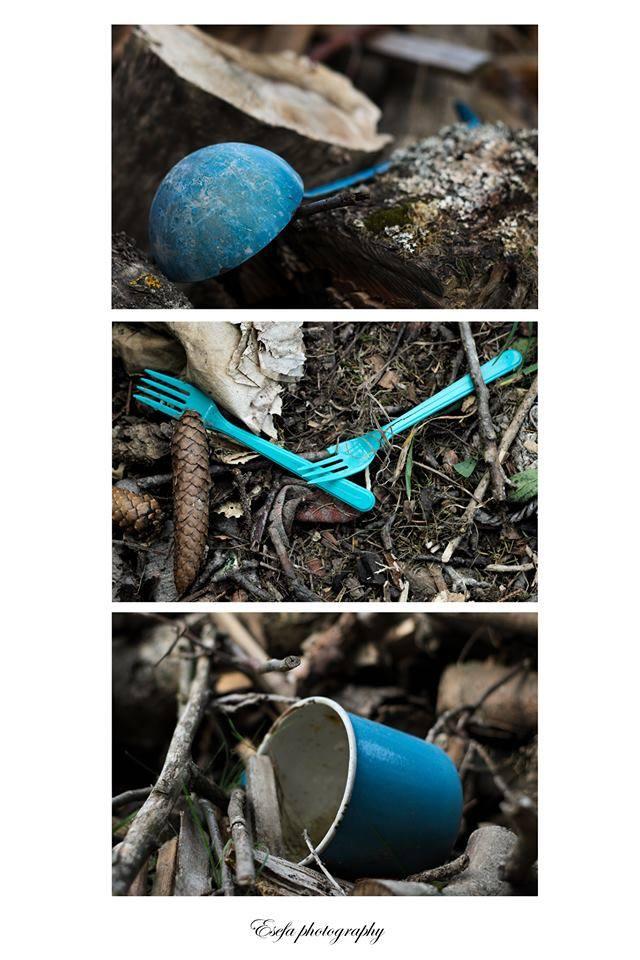 Foto Eliška Frydrychová |Sbírka nalezených modrých věcí
