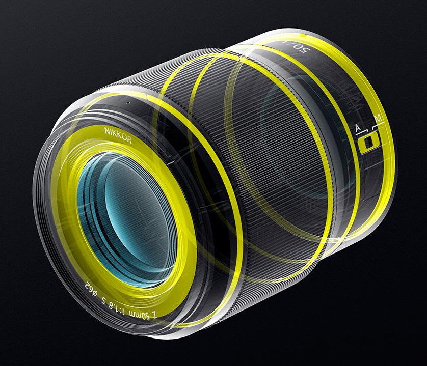 Těsnění Nikkoru Z 50 mm f/1,8 S
