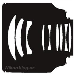 Optická konstrukce se skládá z devíti členů, nejsou použity žádné speciální čočky