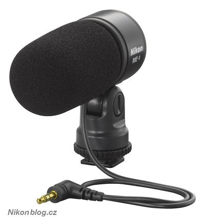 Na Nikon 1 V1 lze také nasadit externí mikrofon ME-1