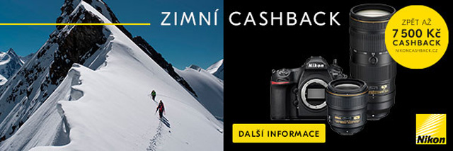 Zimní cashback Nikonu právě spuštěn. Zpětné slevy jsou více než zajímavé!