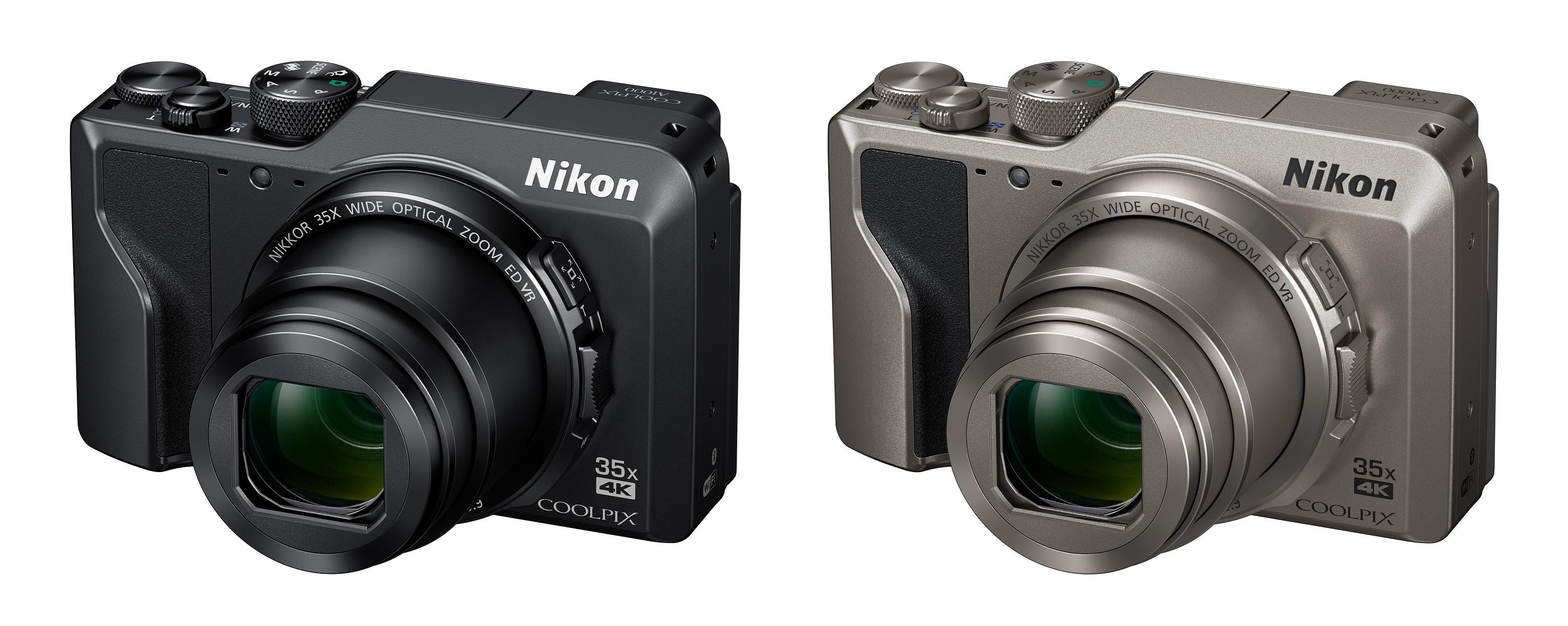 Nikon Coolpix A1000 bude dodávaný v černé barvě nebo v atraktivním provedení imitace titanu
