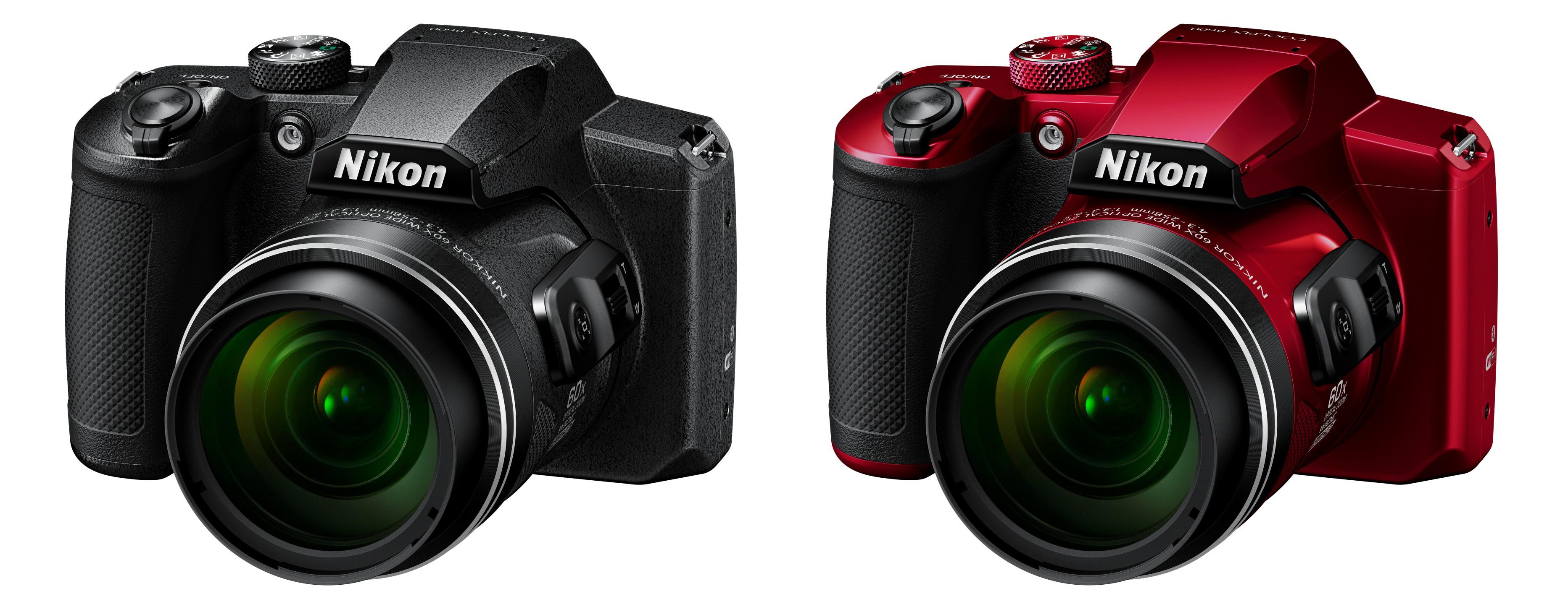 Je libo celočerný Coolpix B600 nebo se vám více líbí červený s černými doplňky?