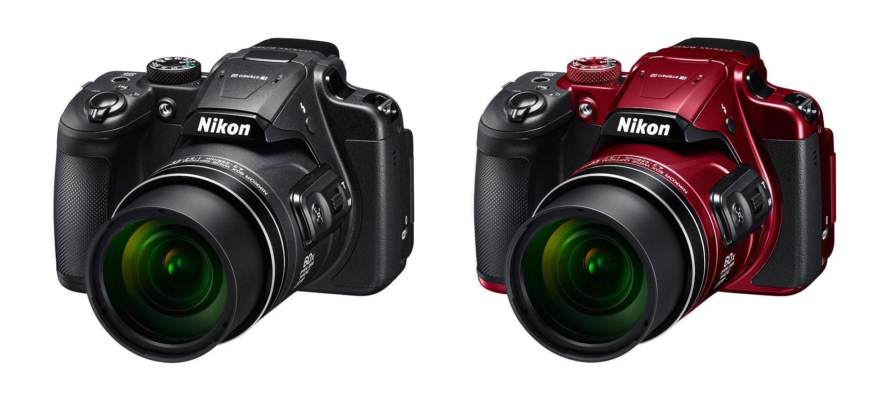 Celočerný nebo kombinace červené a černé? Který Nikon Coolpix B700 se vám líbí více?