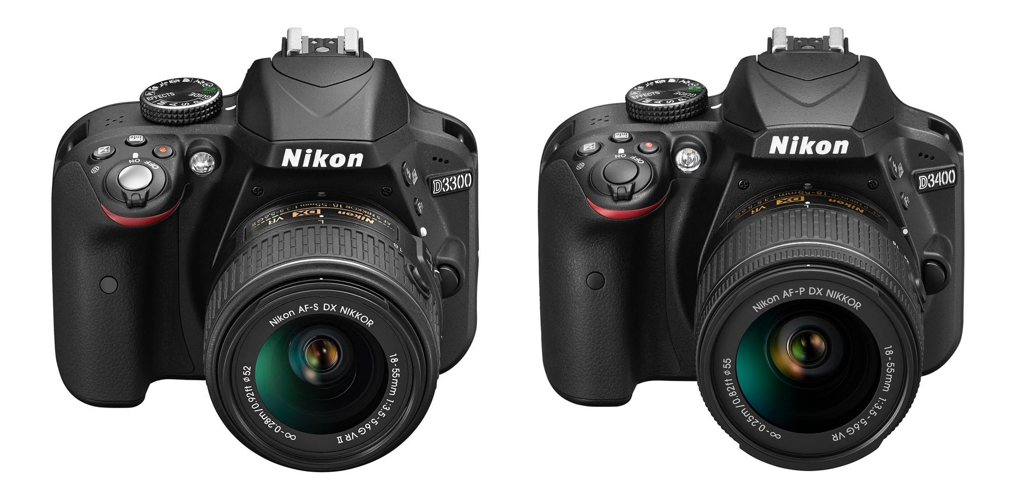 Nikon D3400 vs D3300