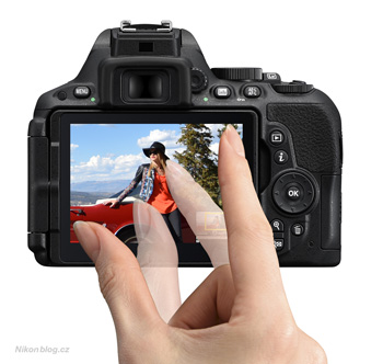 Nikon D5500 – dotykové ovládání